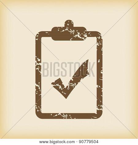 Grungy accept icon