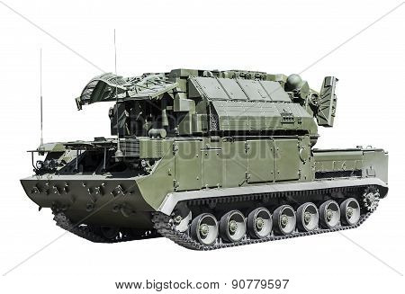 All-weather Tactical Air Defense Missile System Isolated On A White Background