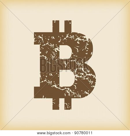 Grungy bitcoin icon