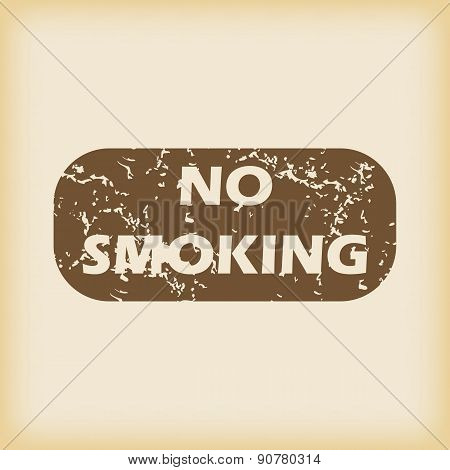 Grungy NO SMOKING icon