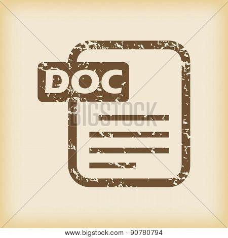 Grungy doc file icon