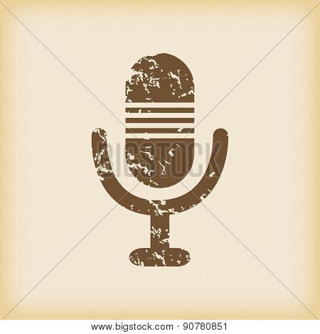 Grungy microphone icon
