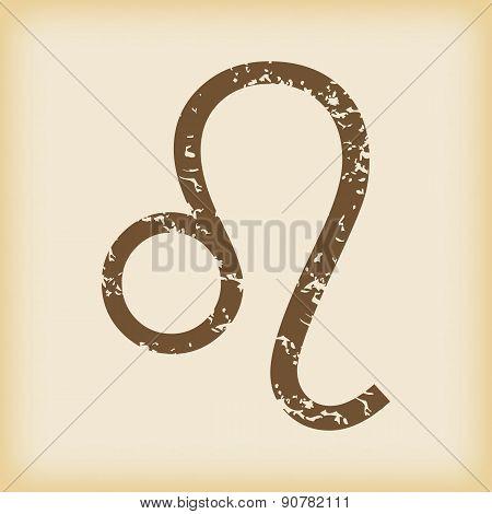 Grungy leo icon