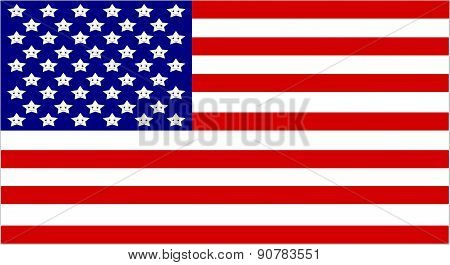 Flag of the United States of America with cute stars