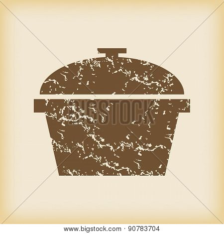 Grungy pan icon