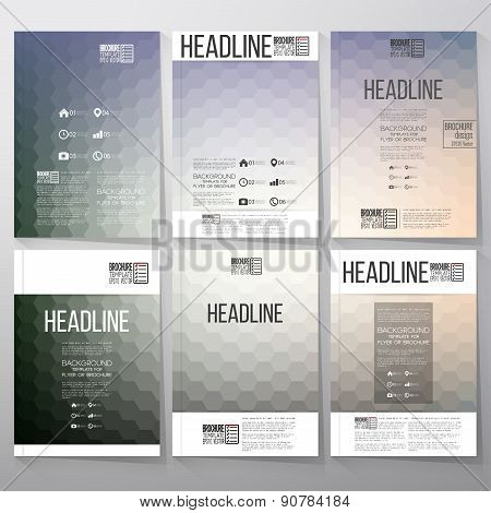 Abstract blurred hexagonal backgrounds. Brochure, flyer or report for business, templates vector