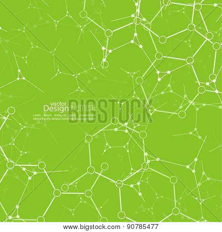Abstract background with DNA strand