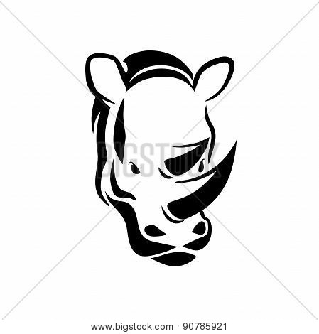 Rhinoceros Head Tattoo