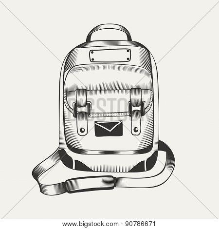 Illustration of backpack.