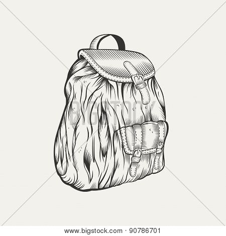 It is an illustration of backpack.
