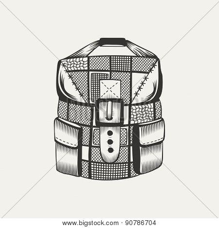 Illustration of a backpack.