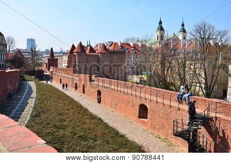 Barbican fortress, Warsaw, Poland