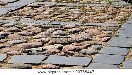 Stone pavement texture