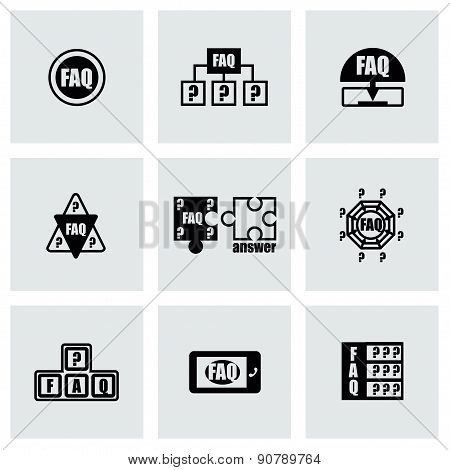 Vector FAQ icon set