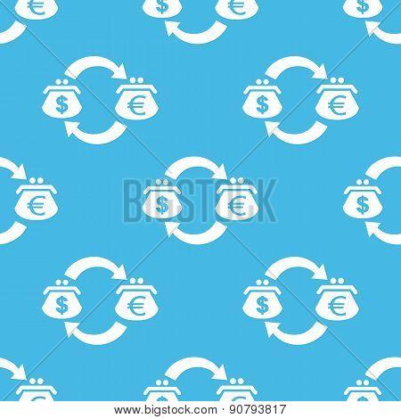 Blue dollar-euro exchange pattern