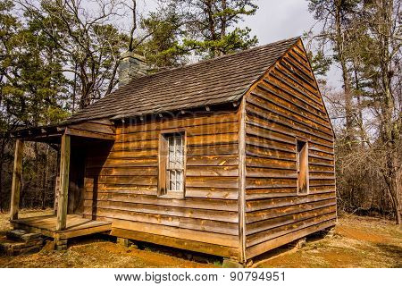 Restored Historic Wood House In The Uwharrie Mountains Forest