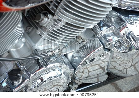 Closeup Photo Of Motorbike
