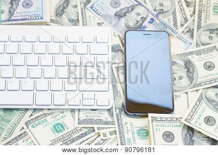 keyboard and phone