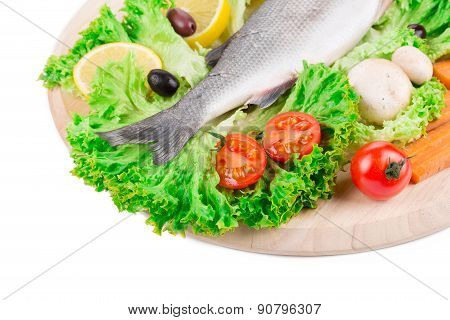 Composition of fresh seabass.
