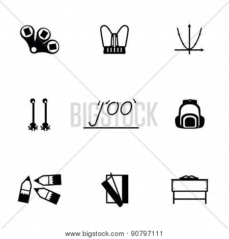 Vector Schoolbook icon set