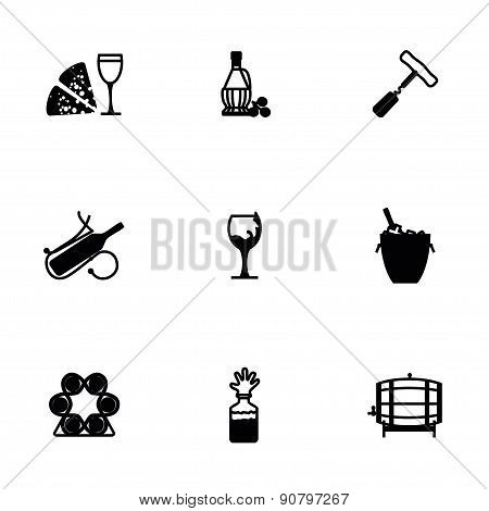 Vector Wine icon set