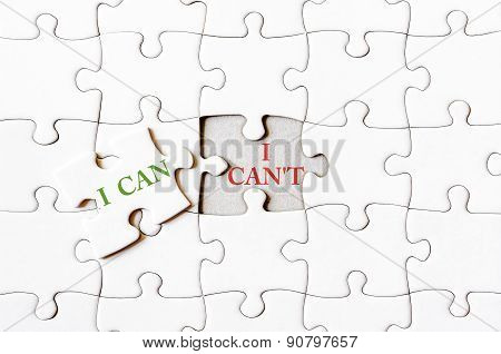 Missing Jigsaw Puzzle Piece With Word I Can