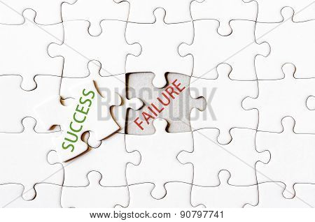 Missing Jigsaw Puzzle Piece With Word Success