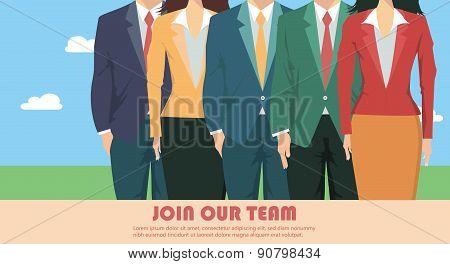 Business team presentation concept, team work success concept