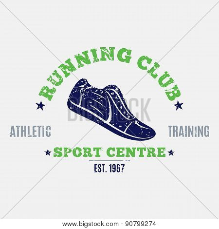 Retro Styled Running Club Label or Emblem Template