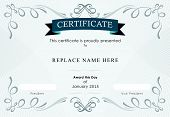 stock photo of certificate  - Certificate border Certificate template - JPG