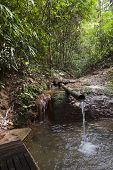 stock photo of ban  - small waterfall in deep forest at Ban Pako - JPG