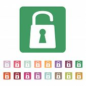 picture of lock  - The open lock icon - JPG