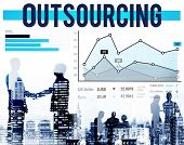 foto of recruiting  - Outsourcing Hiring Outsource Recruitment Skills Concept - JPG