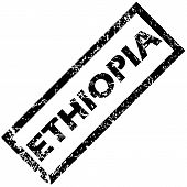 picture of ethiopia  - Vector rubber stamp with name ETHIOPIA - JPG