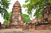 pic of buddhist  - Buddhist temple in the city of Ayutthaya Historical Pagoda - JPG
