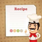 image of recipe card  - Chef Presenting Recipe Card - JPG