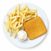 stock photo of tartar  - Fried cheese chips tartar sauce - JPG