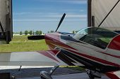 picture of aerobatics  - Sport aircraft at the airport ready to fly - JPG