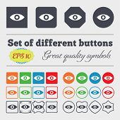 pic of intuition  - Eye Publish content sixth sense intuition icon sign Big set of colorful diverse high - JPG