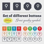 foto of gps  - Map pointer GPS location icon sign Big set of colorful diverse high - JPG