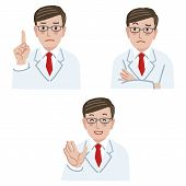 picture of frown  - Doctor in different expression  - JPG