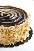 picture of crunch  - Delicious Almond Chocolate Crunch Cake - JPG