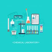 picture of chemical reaction  - The chemical background banner cover - JPG