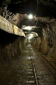 pic of copper  - an underground tunnel in a copper mine - JPG
