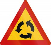picture of traffic sign  - Greek traffic warning sign - JPG
