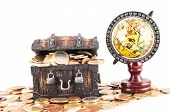 picture of treasure  - Picture of a Business Money Concept Idea - JPG