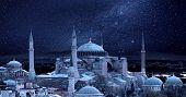 pic of constantinople  - Hagia Sophia in the moonlight - JPG