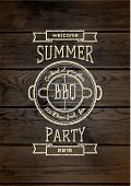 foto of bbq party  - BBQ badges logos and labels for any use on a white background - JPG