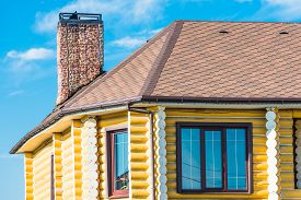 pic of gabled dormer window  - gable roof private residential new modern house with a window - JPG