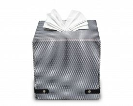image of tissue box  - Modern tissue boxed isolate on white with clipping path - JPG